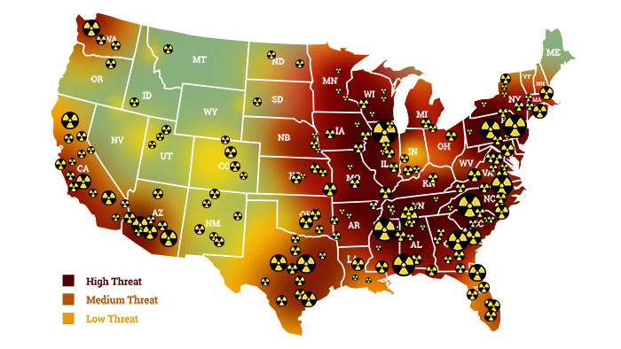Nuclear Survival Guide Transform Your Home Into A Survival - Us nuclear target map